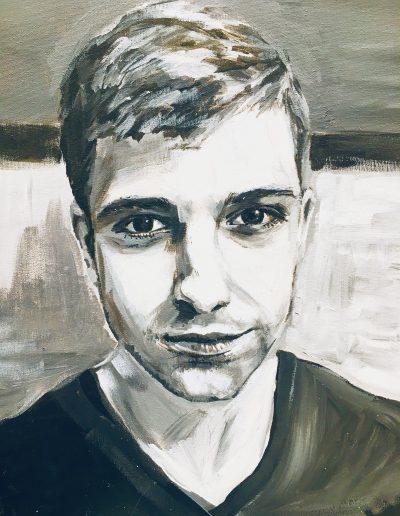 schilderij van jongeman